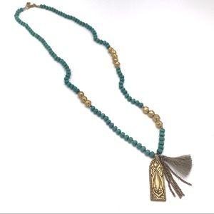 Silpada KR Dominica Turquoise Tassel Necklace